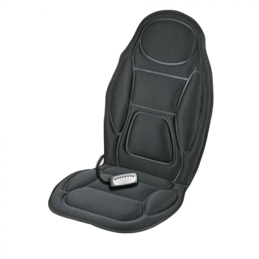 Massajador de costas e assento com adaptador de carro